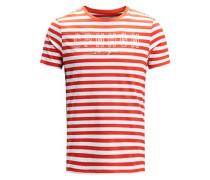 Gestreiftes T-Shirt rot