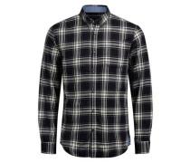 Flanell-Hemd creme / schwarz