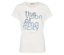T-Shirt 'simplicity' weiß