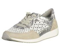 Sneaker beige / silber / weiß