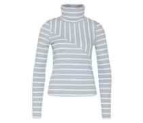Rollkragenshirt 'Alcina' hellgrau / weiß
