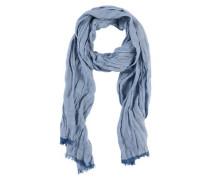 Leichter Crinkle-Schal blau
