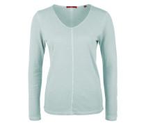 Langarmshirt in Garment Dye blau