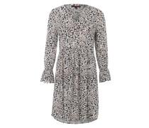 Kleid mit All Over-Print blau / mischfarben