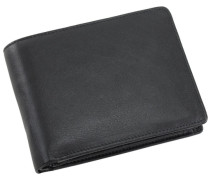Eurojet Geldbörse Leder 13 cm schwarz