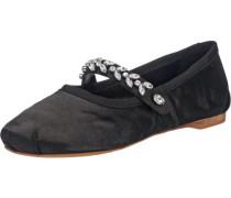 Ballerinas schwarz / silber