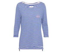 Shirt 'CarlaL' navy / weiß