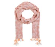 Schal mit Quasten rosa