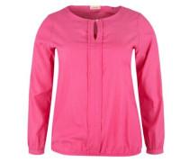 Gewebte Tunikabluse pink
