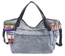 'Rotterdam Exotic Jeans' Handtasche 35 cm blue denim / mischfarben