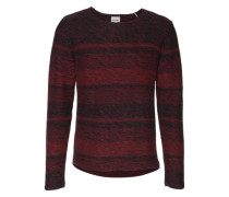 Pullover 'Mixed knit' rot