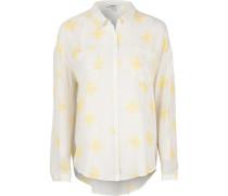 Bluse gelb / weiß