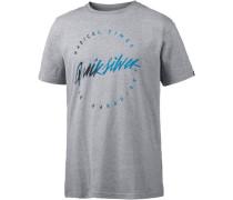 Classic T-Shirt Herren royalblau / grau