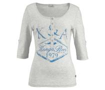 Shirt mit Print blau / graumeliert