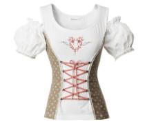 Shirt Catinca braun / rot / weiß
