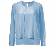 Bluse im Lagen-Look hellblau