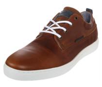 Schlichter Sneaker aus Leder braun