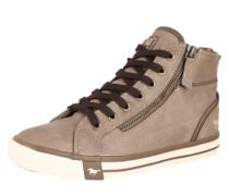 Sneaker High mit Reißverschluss taupe