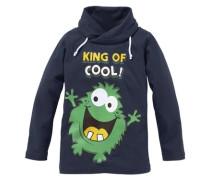 "Langarmshirt ""king OF Cool!"" für Jungen marine / grün"