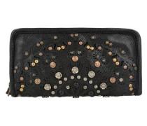 Portafoglio Geldbörse Leder 20 cm schwarz