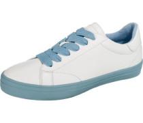 Mindy Lace up Sneakers Low hellblau / weiß