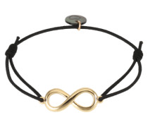 Armband 'Endless' gold / schwarz