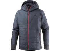 'Helix LS Zip' Outdoorjacke silbergrau / rot
