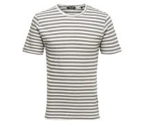 Gestreiftes T-Shirt grau / weiß