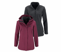 3-in-1-Funktionsjacke »Manapouri« (Set 2 tlg.) marine / anthrazit / bordeaux
