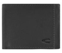 York Geldbörse Leder 11 cm schwarz