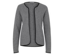 Kurzer Strickcardigan grau / schwarz