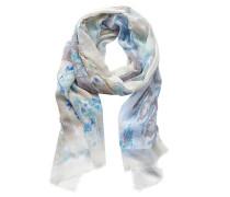 Schal mit Fransen hellblau