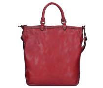 Ginestra Shopper Tasche Leder 28 cm rot