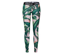 Leggings 'tight' grün / pink