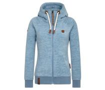 Zipped Jacket 'Gigi Meroni' blaumeliert