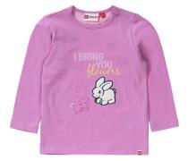 Baby Langarmshirt für Mädchen gelb / pink / naturweiß