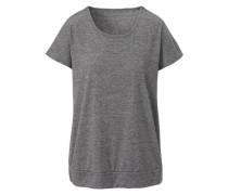 Rundhals-T-Shirt 'elegant Melange' graumeliert