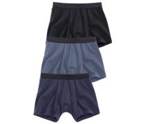 Boxer (3 Stück) blau / schwarz