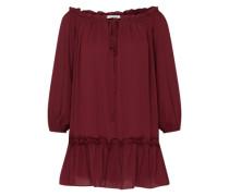 Kleid mit Rüschendetails rot