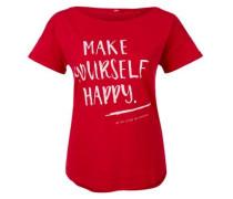 Shirt mit Schriftprint rot