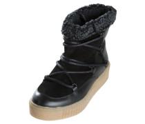Leder-Winter-Stiefel schwarz