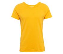T-Shirt 'raglan Oneck LL' dunkelgelb