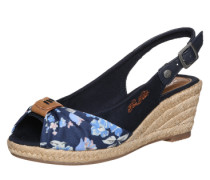 Sling-Sandalette mit Keilabsatz blau