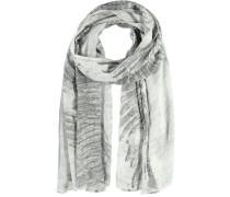 Modal-Seiden-Schal grau / naturweiß