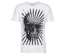 Shirt 'Big skull print tee' weiß