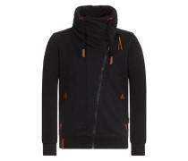 Male Zipped Jacket 'Jan Mopila II' schwarz
