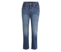 'Wedgie Straight' Jeans dunkelblau