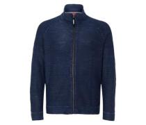 Garment Dye-Jacke mit Zipper blau