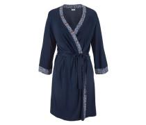 Traumhafter Kimono mit stilvollem Ornament-Druck aus weich fließender Viskose blau