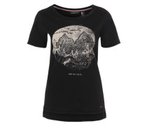 Print-Shirt 'Americana' schwarz